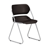 OFM Martisa Series Armless Plastic Stack Chair, Black
